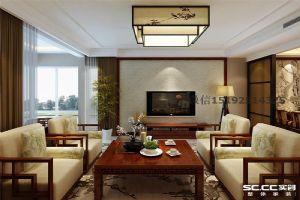 晓港名城新中式三居室175平装修案例