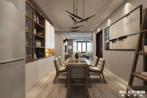 东山郡117平D户型三居室北欧装修设计|青岛实创装饰