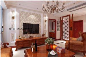 以红木为主题,金茂湾二期140平3室2厅2卫美式装修
