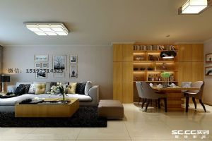 相互交流的空间,海尔世纪公馆现代简约三居室130平C6户型|青岛实创装饰