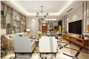 世茂意墅湾180平加地下室现代简约装修设计,宁静的感觉!