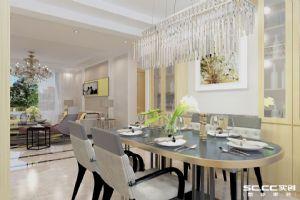 采光充足的户型,金隅和府140平现代简约三居室装修