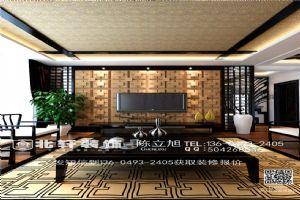 盘锦北轩装饰爱顿国际城240平新中式风格装修效果图