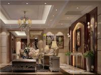雅居乐剑桥郡客厅装修效果图-中山装修公司名雕装饰