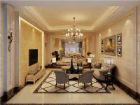 凯茵新城梵登客厅装修效果图-名雕装饰