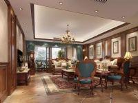 华侨城东岸别墅设计装修-新美式的表现-业之峰孟爱民作品