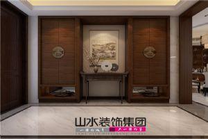 【山水装饰】和庄别墅200平米简中风格空间设计