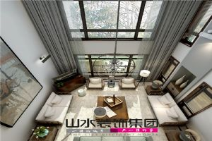 【山水装饰】鸿泰苑300平米现代风格别墅设计案例