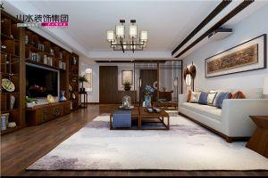 【山水装饰】柏悦公馆180平米中式设计――清雅含蓄家居空间