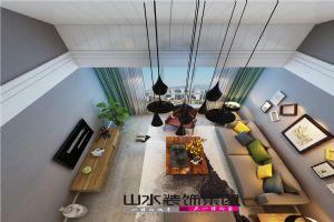 【山水装饰】望湖城福桂苑128平米顶层复式设计案例
