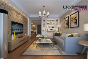 【山水装饰】大众城市之光77平米两室两厅案例