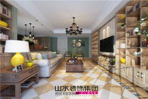 【山水装饰】铂金汉宫136平米温馨三居室设计案例