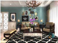 两居室美式混搭风格装修效果图