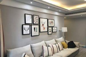 现代简约风格120�O三居室装修案例