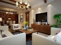 林隐天下125平三居室简约风格装修案例