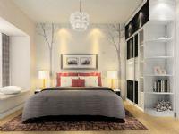 二居室现代风卧室背景墙设计