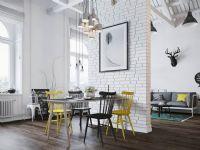 淡雅简约阁楼公寓餐厅图片
