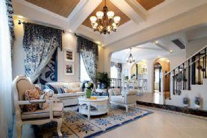 地中海别墅客厅装修效果图