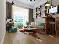 济南和润幸福城95平北欧风格家庭装修设计案例