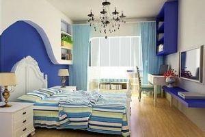 蓝色卧室装修