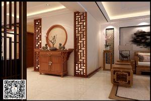 淄博花漾城147平大三室中式风格装修案例