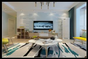 北欧风格三居室-【天海誉天下】-向往的生活-石家庄实创装饰