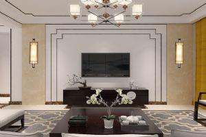 新中式风格-【旭城花园】-淡雅清新三居室-石家庄实创装饰