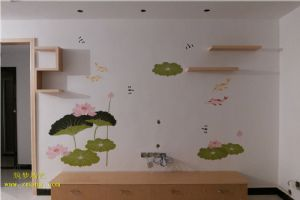 小池硅藻泥墙绘