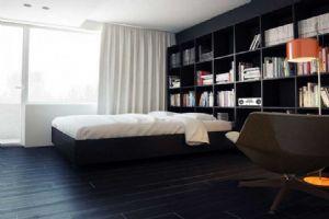 黑白风格室内装修设计效果图