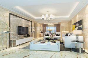 岳阳现代装修天鹅湖三期138平4室1厅客厅效果图