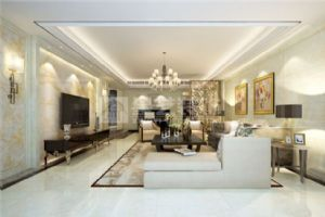 岳阳现代简约紫金苑117平2室1厅装修效果图