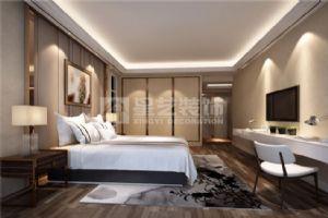 岳阳现代简约装修紫金苑117平2室1厅卧室效果图