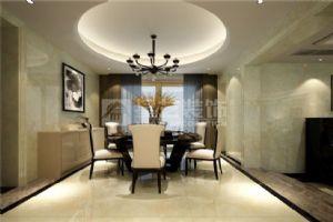 岳阳现代简约装修紫金苑117平2室1厅餐厅效果图
