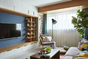 70�O充满爱意的温暖小窝,休闲木纹与精致软装让整个家居装修非常温馨舒适