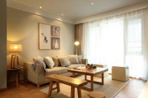 80�O现代简约清新原木两居室装修设计案例