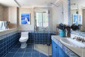 90平米的地中海风格的卫浴间