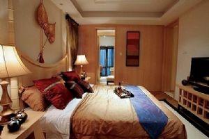 95平米的东南亚风格的卧室